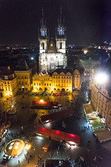 Prague Old Town Hall Square (alh1) Tags: city tourism spring prague praha handheld czechrepublic oldtown oldtownsquare oldtownhall star msto churchofourladybeforetn starmstoprask