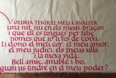 Voldria tenir el meu cavaller... (xelo garrigs) Tags: poetry carolina calligraphy caligrafa poema calligraphie lletres calligrafia fotosenstreaming xelogarrigs