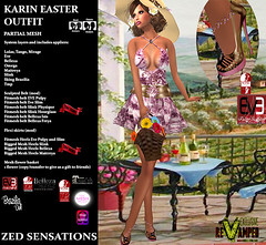 karin easter outfit pink REVAMPED (Zed Sensations) Tags: eve flowers summer sexy beach project garden spring perfect shoes picnic slim dress mesh event lara fantasy short heels casual sensations isis freya belleza zed physique hourglass tmp roleplay brazilia sking revamped maitreya slink pulpy evemesh