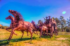 Butterfield Stage Art Sculpture (Michael F. Nyiri) Tags: california sculpture art desert anzaborrego southerncalifornia metalsculpture temeculacalifornia ricardobreceda