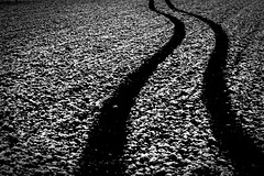 Vestigium (matthiasstiefel) Tags: schnee bw white snow black und spring tracks spuren april schwarz abstrakt frhling weis schwarzweis