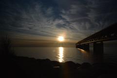 DSC_5346 (kalubro) Tags: sunset sky cloud water denmark shadows himmel bro vatten brigde solnedgng skugga moln resundsbron swe