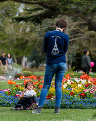 Just One More before we Go (Jocey K) Tags: flowers trees newzealand christchurch people spring balloon poppies botanicgardens christchurchbotanicgardens