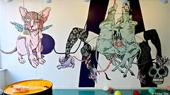 Parabiosis (Akbar Sim) Tags: streetart holland art netherlands rotterdam mural nederland rotjeknor roffa trompettedelamort akbarsimonse akbarsim parabiosis