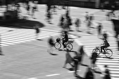 synchronicity ~ Tokyo (~mimo~) Tags: street blur bike bicycle japan tokyo asia crossing shibuya panning