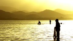 Anzoátegui 16x9 (Saul Gap) Tags: sunset sun mountain luz sol beach contraluz de atardecer gold trabajo venezuela sony playa ve laguna alpha montaña boca contra pescadores trabajadores pescar venezolanos uchire vzla bocadeuchire dsch2 anzoátegui unare