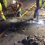 Crews chip out old expansion joint thumbnail
