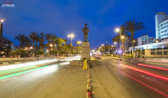 AbdEl-Monem-Riyad Square l     (Ayman Abu Elhussin) Tags: africa street city trees red plant tree art history cars tourism beautiful architecture night speed square lights town photo ray cityscape view shot outdoor album egypt palm arabic clean midtown portsaid arab  ayman  2016      nikon3200              23julyst  aymanabuelhussin 23 abdelmonemriyad