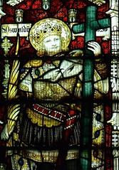Retford - St Swithun's - Kempe Glass (Glass Angel) Tags: tower stainedglass nottinghamshire retford stoswald kempe stswithun