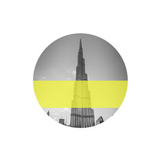 Burj Yellow (el_boberino) Tags: dubai uae khalifa burj