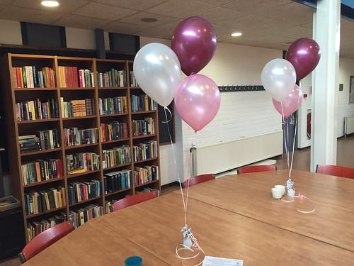 Tafeldecoratie 3ballonnen De Wieken Roosendaal