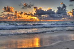 Sunrise on the beach (lelik1978) Tags: ocean morning blue sunset sea sky seascape sunrise outdoor hdr puntacana