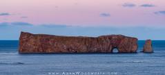 Perce Rock at Sunset (Adam Woodworth) Tags: sunset canada quebec seaarch perce rockformation percerock gaspepeninsula