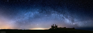 The Castle at Night - Milky Way, Dunstanburgh Castle, Northumberland