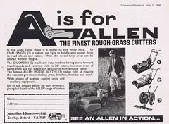 Allen 1966 (Runabout63) Tags: allen advert mower scythe