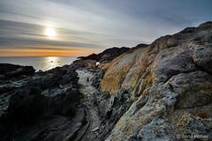 geology - Cap de Creus (vilchesdavid) Tags: costa sun clouds sunrise rocks amanecer geology geologia emporda capdecreus