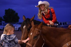 Young Fan (dmguz) Tags: arizona horse rodeo cowgirl chandler wildwest