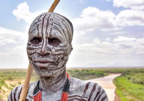 Karo Warrior, Ethiopia