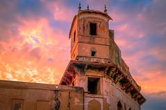 Lover's perch (Fortunes2011. Haunting Nostalgia) Tags: windows pakistan sky architecture clouds terrace unesco perch redfort lahorefort shahiqila mughal lalqila 15century heritagesite emperorakbar fortunes2011nikon