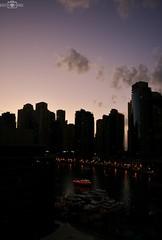 Sunset - Dubai Marina, UAE (kadryskory) Tags: city trip travel sunset urban water skyline clouds marina buildings skyscape boats boat dubai skyscrapers uae yachts dubaimarina kadryskory