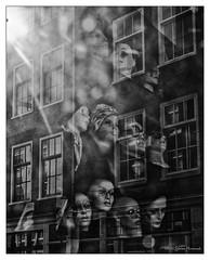 Brillen Head Reflection (GAPHIKER) Tags: amsterdam shop vintage mannequins jordan heads eyeglasses brillen noorderkerkstraat donaldjongyans jongyans