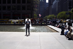 Angel Media (elkogan) Tags: street newyorkcity fountain wings streetphotography midtown figure layer layers