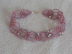 princesse (fabrikarine) Tags: fleur vintage collier bijoux plastic boucle swarovski fou cuivre doreille