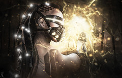 Calling me Electrifying?? (_Adra_ * Taking Clients*) Tags: electric photoshop ps cyborg swagga aybunkercybershop