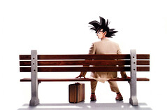 Goku Gump or Forrest Goku? (ChemiQ81) Tags: ball bench poster dragon forrest son gump goku awka