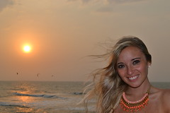 Evening breeze (Guillermo Seewald) Tags: sunset portrait beautiful smile face colombia wind breeze