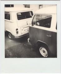 VW (lengvari) Tags: bw film car project polaroid af impossible impulse inexplore