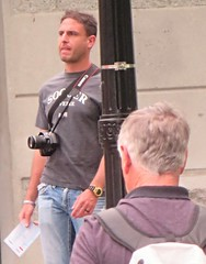 (ManontheStreet2day) Tags: camera male guy tshirt crotch jeans bluejeans stud