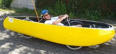 Dieter bei der Probefahrt im noch offenen Quest (albularider) Tags: dieter quest velomobil