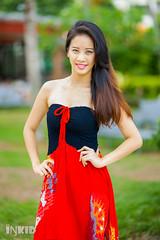 DSC06904 (inkid) Tags: portrait people girl female lights model pretty dof dress natural bokeh outdoor tang ashlyn