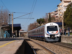 A Turkish Railways' E23000 class EMU, Demirlibahe, Ankara (Steve Hobson) Tags: class emu hyundai railways ankara turkish rotem tcdd banliy e23000 demirlibahe