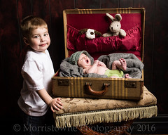 """""""Yep, I'm a Big Brother now"""". (Morristowne) Tags: family portrait studio children nikon brothers brian courtney siblings newborn knox nikkor props maverick 2470mm d600 vogt nelsonvilleohio ohiophotographer morristownephotography"""