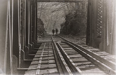 Ghostly (Rrea Brown (Photography)) Tags: railroad ghostly blackandwhitephotography rreabrownphotography