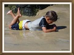 P1050835 (davidlesliebarton) Tags: green beach water sand australia frog qld rainbowbay froggybay