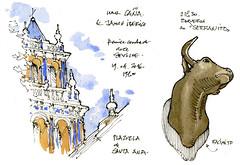 Seville, arrive (gerard michel) Tags: sketch sevilla spain espagne croquis