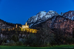 Dreamland (FAM Martin Z) Tags: blue mountain mountains castle history tourism nature beautiful night germany landscape bavaria evening nice king quiet calm historic sl hour poi typical neuschwanstein ludwig schwangau pointofinterest canon5dsr 5dsr