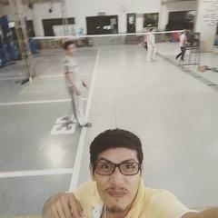 #แบดมินตัน ##badminton #exercise ...💪💪💪...😅
