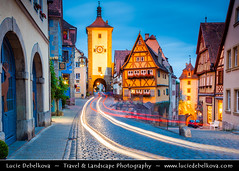 Germany - Bavaria - Rothenburg ob der Tauber at Dusk - Twilight - Blue Hour - Night ( Lucie Debelkova / www.luciedebelkova.com) Tags: world old trip travel vacation holiday tourism beautiful architecture night wonderful germany bayern deutschland bavaria town nice fantastic twilight perfect europe tour place dusk awesome sightseeing eu visit location tourist best journey german stunning destination historical bluehour sight traveling lovely visiting ge exploration incredible touring breathtaking germania deutsch rothenburgobdertauber germanic centraleurope bundesrepublikdeutschland federalrepublicofgermany luciedebelkova wwwluciedebelkovacom luciedebelkovaphotography