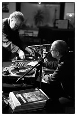David Toop & Evan Parker, Sharpen Your Needles 4 @ Cafe Oto, London, 12th January 2016 (fabiolug) Tags: leica blackandwhite bw music records london monochrome zeiss 50mm blackwhite concert live gig livemusic performance vinyl talk rangefinder monochrom biancoenero dalston lps sonnar davidtoop ethnographic leicam zeisssonnar 50mmf15 evanparker sonnar50mm cafeoto zeisscsonnar zeisszm50mmf15csonnar mmonochrom leicammonochrom leicamonochrom zeisscsonnartf1550mmzm sharpenyourneedles