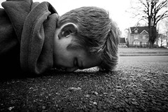 Close-Up FDT (#73) (RookieTom) Tags: street blackandwhite bw selfportrait closeup canon path january sidewalk tuesday squashed lightroom selfie facedown 2016 planking efs1022mmf3545usm fdt efslens eos60d facedowntuesday rookietom tomoskay 12012016 12thjanuary2016