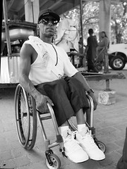 Rolling Joe (DarkLantern) Tags: street city portrait blackandwhite bw photography mono katrina town big anniversary pigeon candid neworleans crescent p 10th nola easy carrollton steppers 17thward