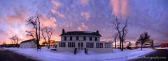 Glen Haven ... Sleeping Bear Inn, winter sunset (Ken Scott) Tags: winter sunset panorama usa snow december michigan lakemichigan greatlakes freshwater voted glenhaven leelanau 2015 45thparallel fhdr sbdnl sleepingbeardunenationallakeshore sleepingbearinn mostbeautifulplaceinamerica