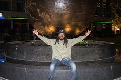 His World (Beau Finley) Tags: city portrait sculpture oklahoma night globe earth flash masonry tulsa doc atnight freemason beaufinley