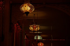 _IGP9406 (g0d4ather) Tags: light glass lamp restaurant mirror colorful indoor nobody arabian eastern