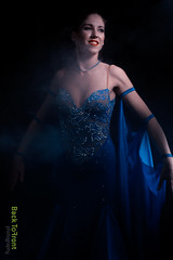 mandy-0402 (Back to Front Photography) Tags: show blue color colour girl smile dance intense movement model dress dancing smoke tango ballroom beautifull walz fotoshoot quickstep nadb wwwbacktofrontnu