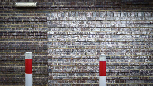 Brickwall and Bollards